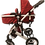 Thumbnail: Red Stroller/White Frame
