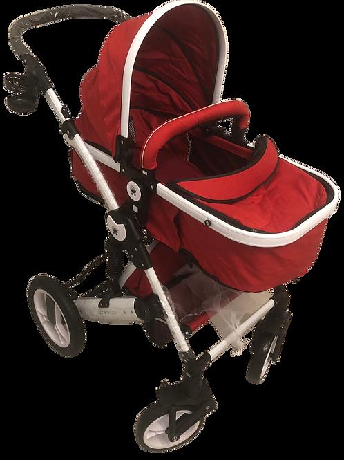 Red Stroller/White Frame