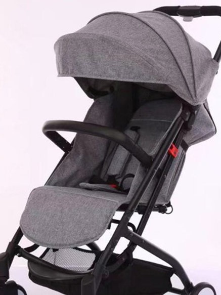 Gray Porter-light compact stroller