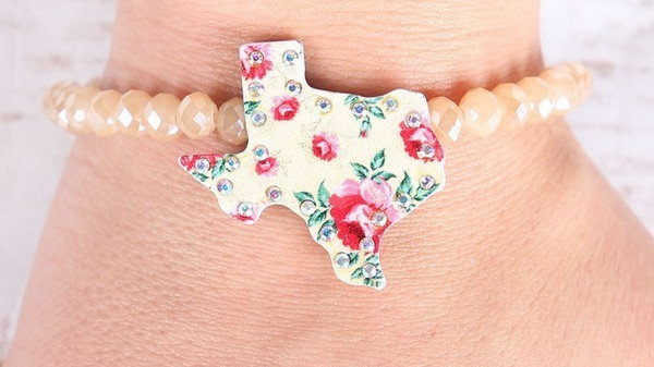 Texas Bracelet with AB crystals
