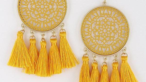 Asian Trendy Tassel Earrings