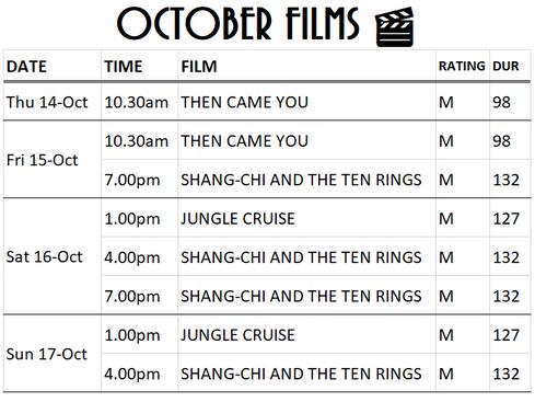 Films This Week (14/10 - 17/10)