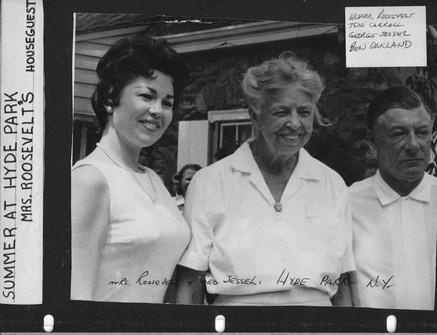 Eleanor Roosevelt & Georgy Gessell w/Me on Left