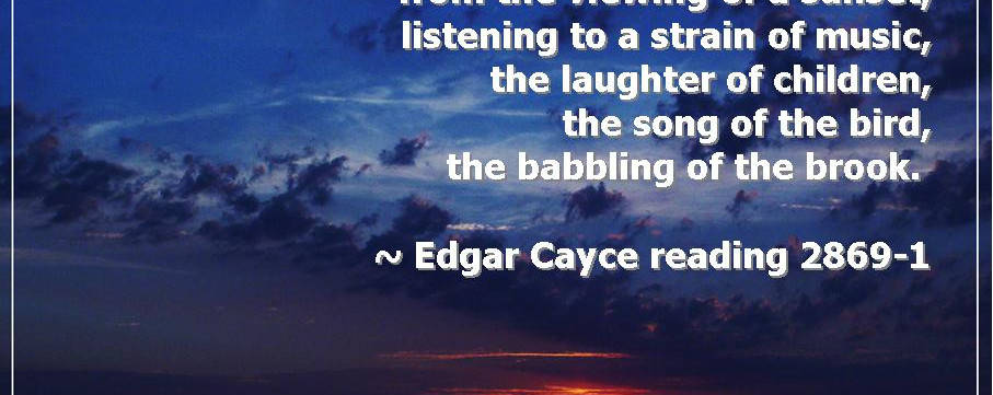 Edgar's readings touched the heart and the spirit.