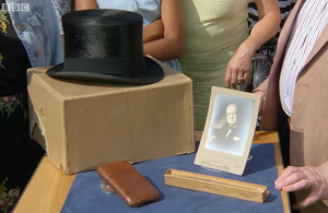 Objects owned by Winston Churchill found in a rubbish dump