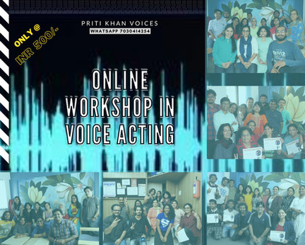 Online Workshop in Voice Acting