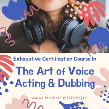 Certification in The Art of Voice Acting