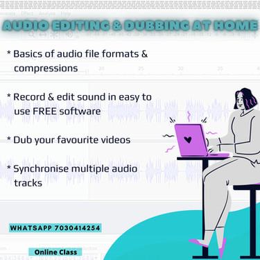 Audio Editing & Dubbing @ Home