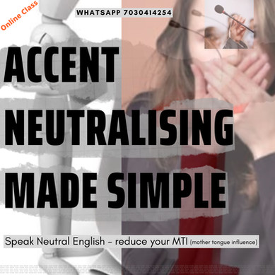 Accent Neutralising Made Simple