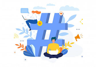 big-hashtag-symbol-with-people-chatting-