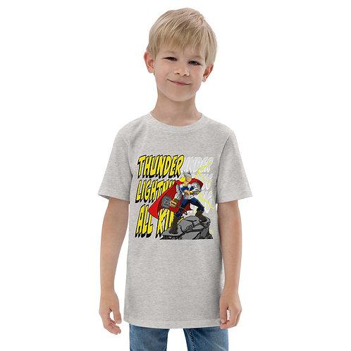Thunder, Lightning, All King - Youth jersey t-shirt