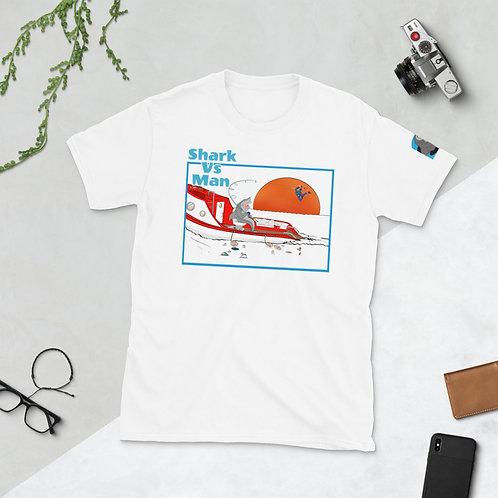 Shark Vs Man Short-Sleeve Unisex T-Shirt