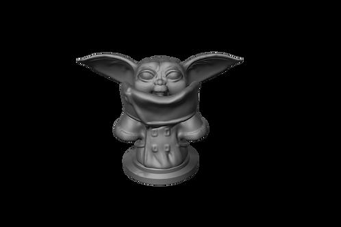 Baby Yoda standing
