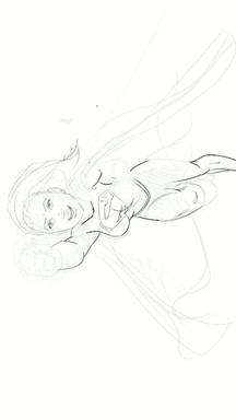 super girl line art