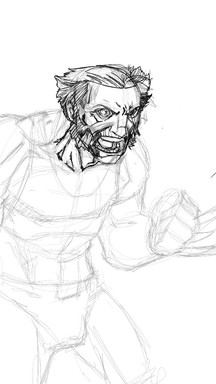 Commision to render an OLD man Logan