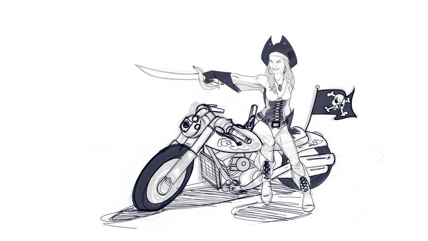 Pirate biker (shiva)