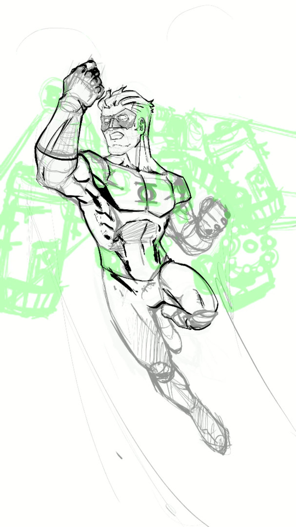 green lantern sketch