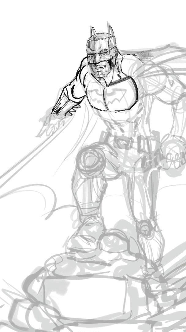 Fun Sketch of Batman