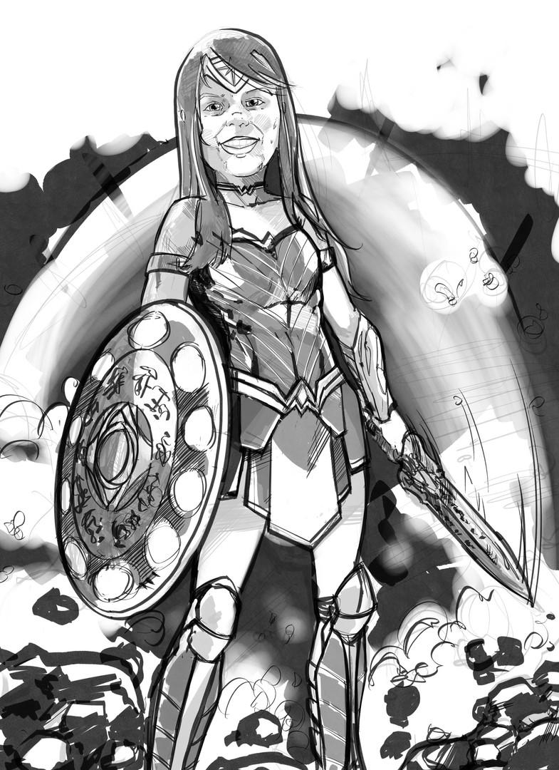 Wonder Woman Sketch commission