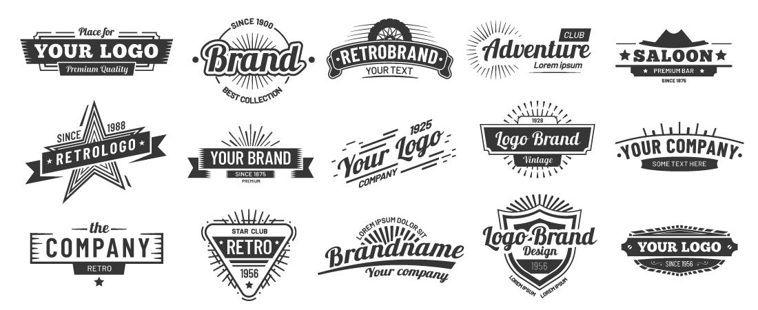 retro logo 2 set provided