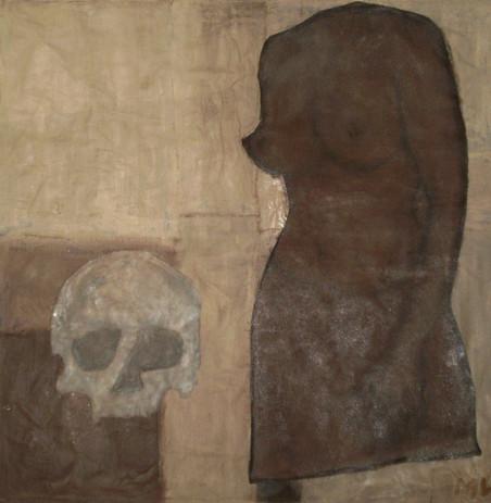 Ménade et Crâne d'Orphée