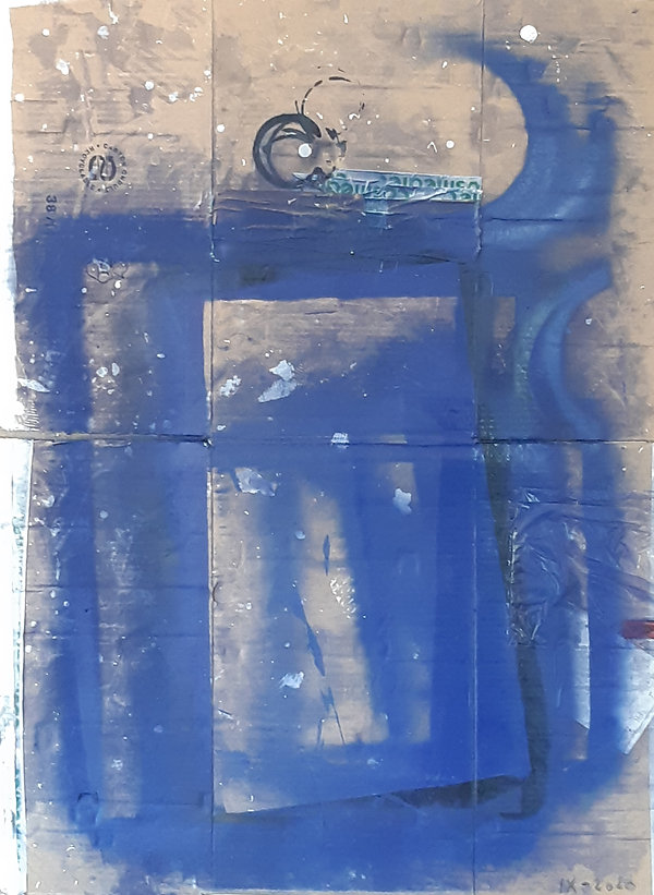 Impression Ultamarine,    76 x 97 cm