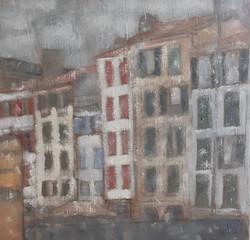 Bayonne, Quai Galuperie     40 x 40 cm
