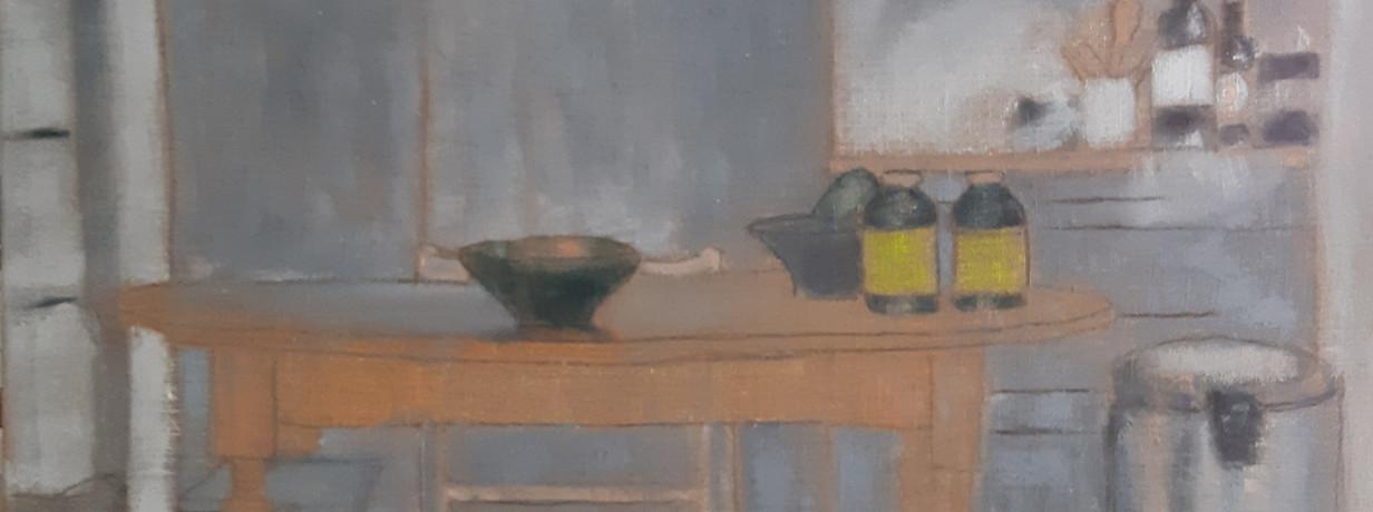 La Cuisine au Moulin       75 x 100 cm