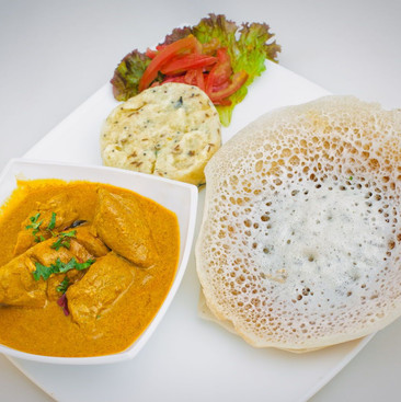 Appam with Fish Curry