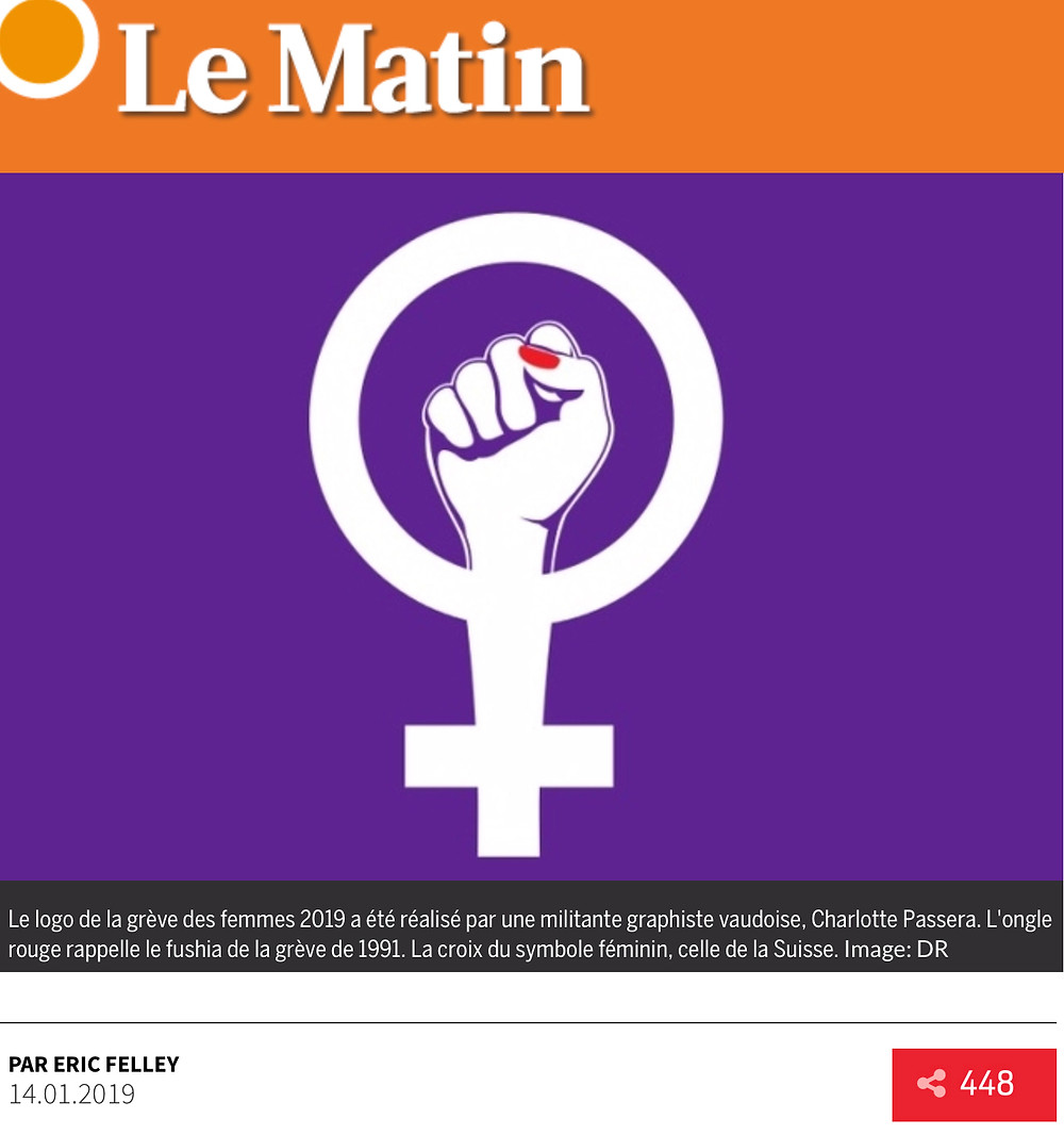 le logo de la greve des femmes est lausannois