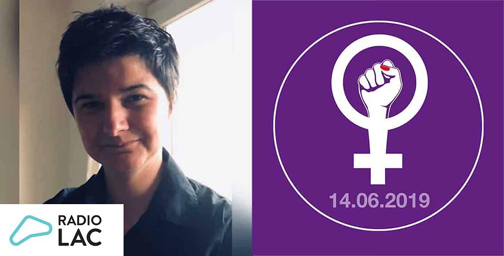 Autrice du logo de la grève des femmes