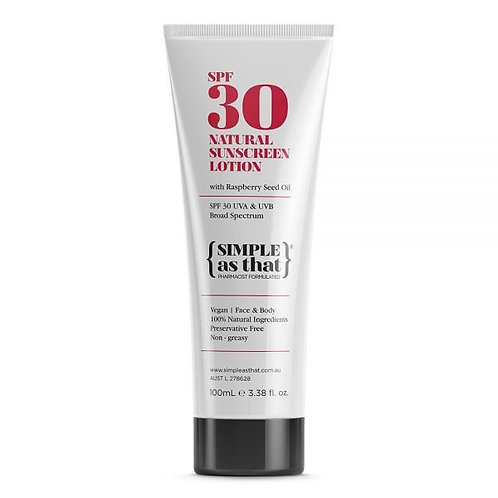 Simple As That SPF 30 Natural Sunscreen 100ml