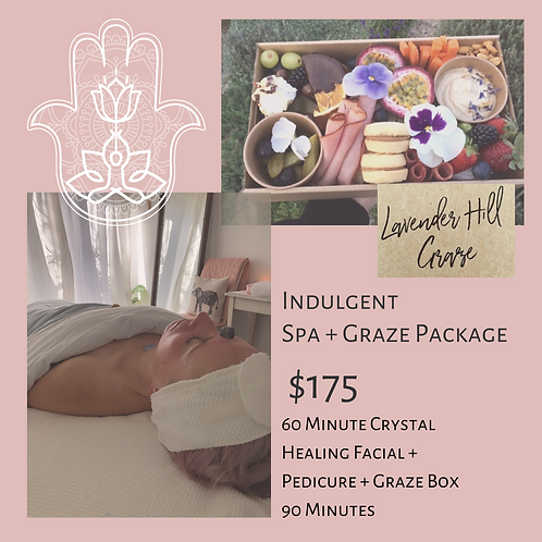 Indulgent Spa & Graze Package 90 Minutes