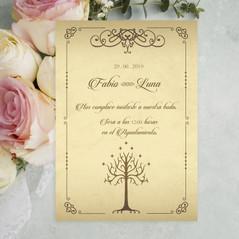 Convite de voda inspirada en El Señor de los Anillos