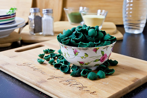 Green Spirulina Orecchiette (Vegan)