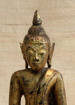 SIAM AYUTHIA KINGDOM ANTIQUE WOODEN BUDDHA