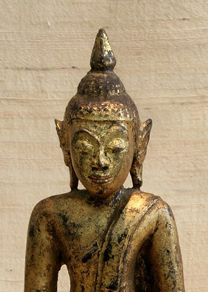 SIAM AYUTHIA KINGDOM ANTIQUE WOODEN BUDDHA
