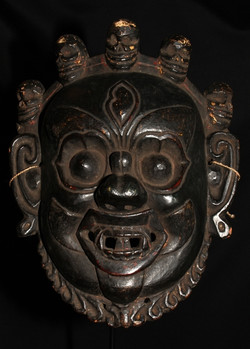 HIMALAYAN TIBET ANTIQUE MASK OF MAHAKALA