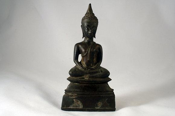 AYUTHIA ANTIQUE BRONZE MEDITATING BUDDHA