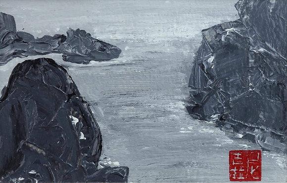 """""""CLIFF & SEA"""" by NICOLAS VIGNAU-BEGUE"""
