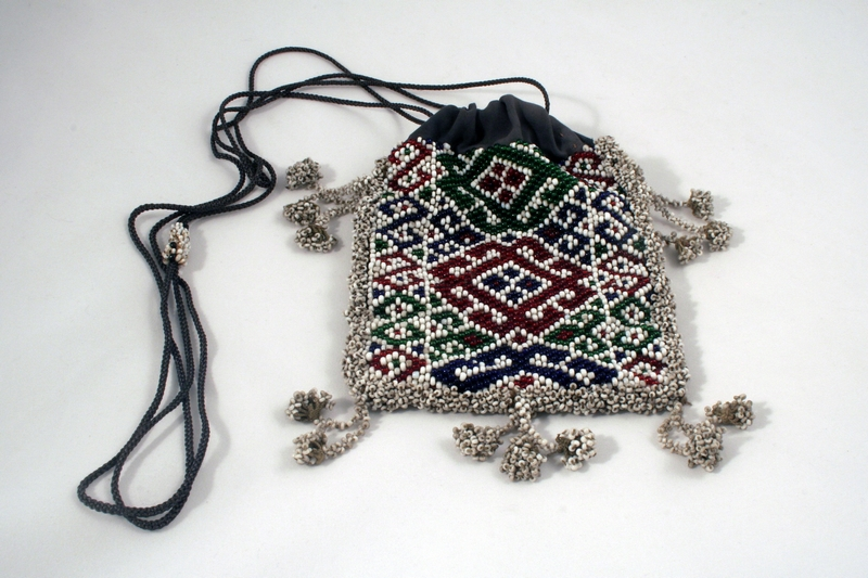 CENTRAL ASIA BEADED BAG