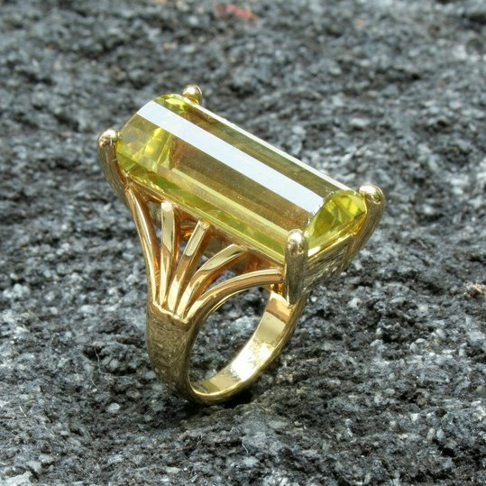 LEMON QUARTZ & GOLD RING