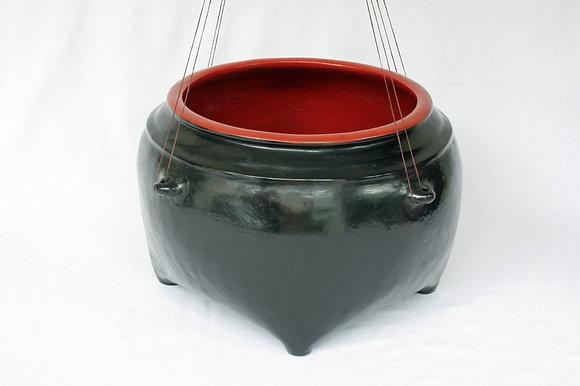 BURMA ANTIQUE BLACK & RED SEEDS BOWL