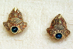 ANCIENT GOLD KHMER EARRINGS
