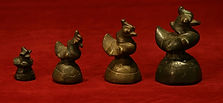 opium weight; burmese bronze; ducks