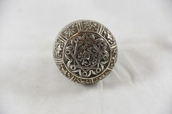PERANAKAN PAIR OF ANTIQUE SILVER BETELNUT BOXES