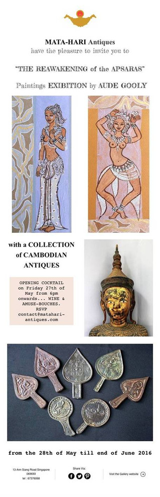 """latest Event at MATA-HARI Antiques PAINTINGS EXIBITION by Aude Gooly """"The Reawakening of the Ap"""