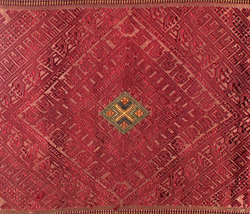 LAOS SILK RED PAR SABAI