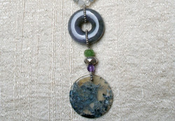 PURPLE JADE & AGATHE NECKLACE