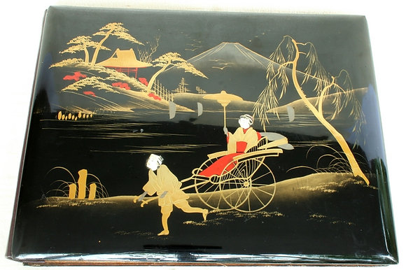 OLD JAPANESE LACQUER PHOTO ALBUM